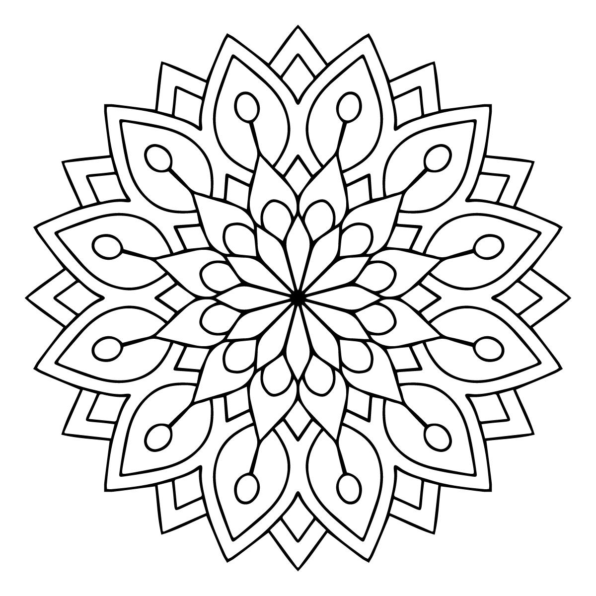 Mandala à colorier #1