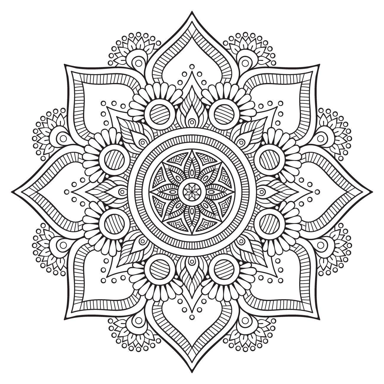 Mandala à colorier #2